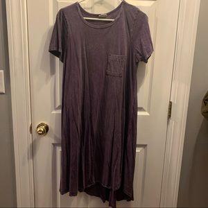 Lularoe Carly size Medium. Purple Mineral wash